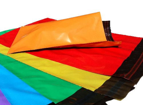 Coloured Co-ex Polythene Mailing Postal Bags