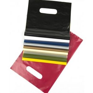 Coloured Punch Handle Carrier Bags