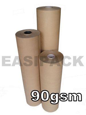 PURE KRAFT PAPER ROLLS (MG PURE RIBBED KRAFT) - 90gsm